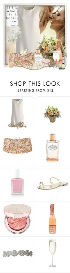 """""""Summer romance"""" by pusja76 ❤ liked on Polyvore featuring Chicwish, Jayson Home, Prada, Giuseppe Zanotti, Ciaté, Lilly + Bo, Crate and Barrel and summerdatenight"""