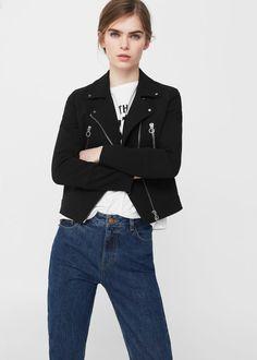 Zipped biker jacket -  Woman   MANGO Slovenia