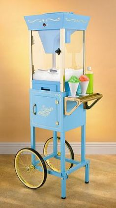 Awesome vintage snow cone maker! Great for parties of just a midsummer treat!