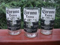 Or remove the necks entirely to make tumblers: | 22 DIY Ways To Reuse Empty Booze Bottles