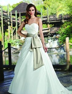 This would look awesome if the sash and bridesmaids dress where the same color!