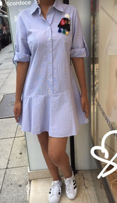 44 Ideas dress pattern linen ideas for 2019 Simple Dresses, Casual Dresses, Casual Outfits, Fashion Dresses, Midi Dresses, 50 Fashion, Umgestaltete Shirts, Linen Shirts, Camisa Formal