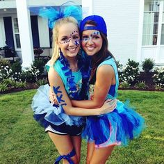 Super Ideas For Sport Day Outfit Spirit Week Fun Dress Up Day, Outfit Of The Day, Football Face Paint, Blue Face Paint, Spirit Day Ideas, Homecoming Spirit Week, Homecoming Themes, Homecoming Outfits, Sports Day Outfit