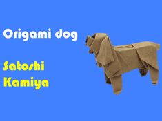 This is the tutorial for the wonderful origami dog by Satoshi Kamiya. It's a complex model to fold. Check out our…