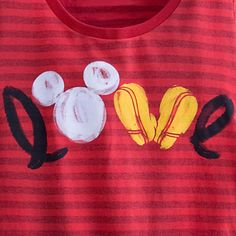 Mickey Mouse Icon Striped Tee for Women - Great idea, want to try this as a DIY