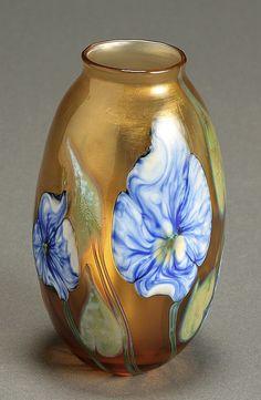Charles Lotton 'Multi Flora' Glass Vase Dated 1979