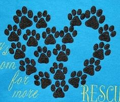 Dog Print Heart - 3 Sizes! | What's New | Machine Embroidery Designs | SWAKembroidery.com Bella Bleu Embroidery