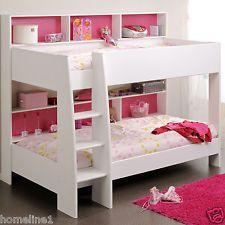 Etagenbett Kinderbett Hochbett Weiss Pink  mit Leiter Hochbett Spielbett  TamTam
