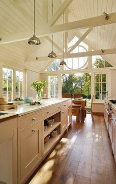 Dream Home Design, My Dream Home, Home Interior Design, Garden Room Extensions, Open Plan Kitchen, Dream Rooms, Ideal Home, Home Kitchens, Galley Kitchens