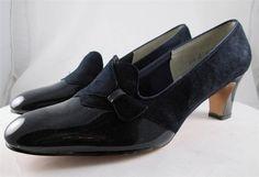 Vintage 60s 70s Red Cross Shoes Pumps Heels Blue Leather Suede Patent 10 B/2A #RedCrossShoes #PumpsClassics