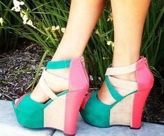 Platform shoes for Women! Colorblock