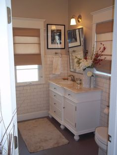 subway tile bathroom on wearetheolivers.com