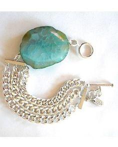 stone and silver bracelet (mykukula)