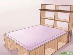 How to Build a Wooden Bed Frame. Do you have a rickety metal bed frame? Or maybe you keep your mattress on the floor with no frame at all. Have you considered getting a wooden bed frame? It can add wonderful appeal to your room, and it. Diy Twin Bed Frame, Solid Wood Bed Frame, Bed Frame Plans, Simple Bed Frame, King Size Bed Frame, Wooden Bed Frames, Build A Platform Bed, Queen Platform Bed Frame, Build A Loft Bed