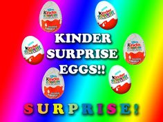 Kinder Surprise Eggs! Chocolate Kinder Surprise!