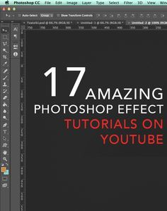 17 of our favorite Photoshop effect tutorials on Youtube. These will teach you how to create incredible natural pastel tones, fun vintage effects, and other cool effects!