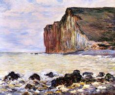 Cliffs of Les Petites-Dalles Claude  Monet - 1881