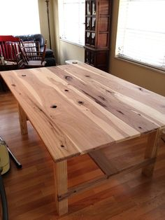 hickory wood for a table top. beautiful. | build me | pinterest