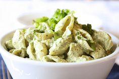creamed avocado and lime chilled pasta...I think I will use quinoa pasta and instead of mayo, another avocado or veganaise.