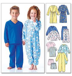 McCall's 6224 - Toddlers'/Children's Robe, Belt, Jumpsuit, Top, Shorts and Pants