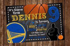 Golden State Warriors Basketball Printable Invitation by Denleys