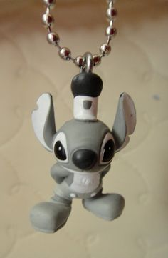 Disney Lilo and Stitch Charm Necklace - Steamboat Willie. $6.00, via Etsy.