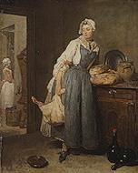 Image: Jean-Baptiste-Siméon Chardin, The Return From Market, 1738