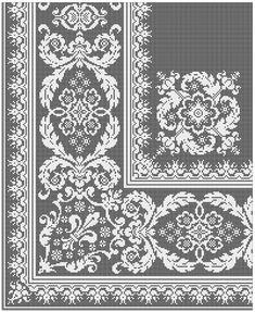 Crochet Bedspread Pattern, Crochet Basket Pattern, Tapestry Crochet, Crochet Patterns, Cross Stitching, Cross Stitch Embroidery, Cross Stitch Patterns, Border Embroidery Designs, Filet Crochet Charts