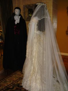 Costumes worn by Emmy Rossum and Gerard Butler in 'The Phantom of the Opera'