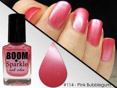 Pink Bubblegum (114) - Nail Polish - Bubble Gum Nailpolish by Boom Sparkle