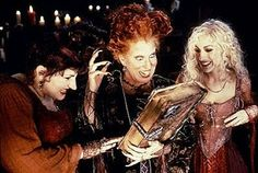 "Like Sabrina The Teenage Witche's spell book, the handwritten spell book in ""Hocus Pocus"" (1993) is magical itself. The witches can call it and ask it for suggestions. Unlike some other portrayals of witches in pop culture, the three witches of ""Hocus Pocus"" do not derive their power from their grimoire, rather, it serves as a guide to the possibilities of spells they can cast.   Image Source: Hocus Pocus"