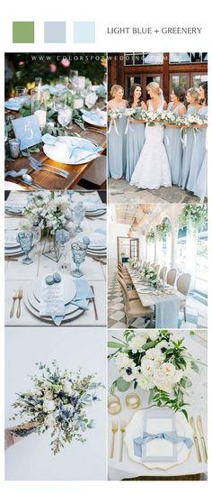 Beach Wedding Colors, Winter Wedding Colors, Winter Weddings, Fairytale Weddings, Rustic Weddings, Unique Weddings, Baby Blue Wedding Theme, Summer Wedding Themes, Popular Wedding Colors