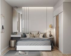Modern bedroom design should be planned well. Here are some best design ideas for your modern style bedroom. Minimalism Interior, Apartment Design, Elegant Bedroom, Modern Bedroom Design, Stylish Bedroom, Modern Bedroom, Small Bedroom, Remodel Bedroom, Modern Style Bedroom