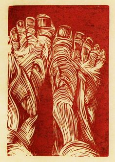 Jonathan Nicklow ~ Untitled (linocut) | art :: printmaking ...