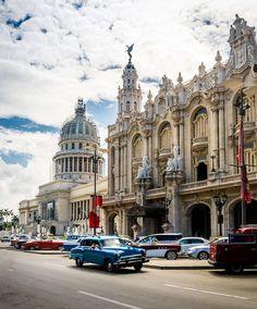 Great Theater (Gran Teatro) and El Capitolio, Havana, Cuba