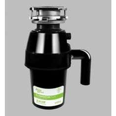The Kitchen Cabinet Kings 3/4 Horsepower Garbage Disposal is for medium to heavy duty use and has a corrosion-proof grinding chamber made of glass-filled nylon and polyester.