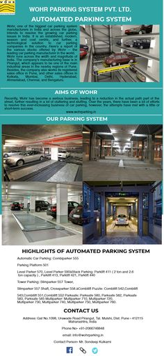 Wohr parking system is one of the leading Automated parking system in India which provide safe Multilevel Car Parking System at less space with effective cost. They are the best for parking car in perfect mechanical way. Wohr provides multilevel car parking, auto parking system, combilift, puzzle car parking etc. Automatic Cars, Car Parking, Car Ins, Lamborghini, Puzzle, India, Space, Floor Space, Puzzles