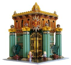 LEGO Art Noveau Modular Bank - can't believe all the stuff you can make with legos!