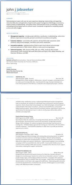 Web Design Resume Resume Ideas Pinterest Design resume and - web developer resume