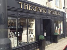 Theofano's is an elegant interior decoration shop in Whalley, LANCASHIRE offering everything from painted furniture to a full design service. Country Style Furniture, Modern Country Style, Annie Sloan Stockists, Shutter Doors, Shop Fronts, Shop Interiors, Windows And Doors, Chalk Paint, Curb Appeal