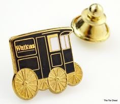 Fun collectible pin! J R Watkins Tie Tack/Lapel Pin. Company Advertising 24KGP | The Tie Chest