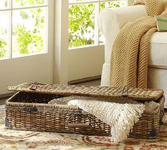 Daytrip Lidded Underbed Basket | Pottery Barn