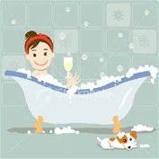 bath cute poster.