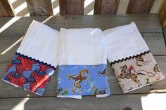 Baby Boy Cloth Diaper Burp Cloths by olsentials on Etsy, $20.00