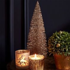 Gold Glitter Table Top Christmas Tree