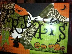 Make a Great halloween Scene for your home on canvas' @Cindy Jaeger Designs in Tomball