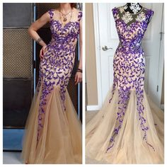 Purple & Nude Sequin Jovani Gown Brand new with tags. No alterations, no damage of any kind.                 No trades. Jovani Dresses Prom