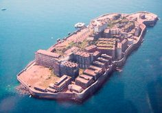 Island of Hashima, Japan the island was populated from 1887 to 1974 as a coal mining facility it looks haunted Abandoned Houses, Abandoned Places, Haunted Places, Hashima Island, Japan Travel Tips, Nagasaki, Ghost Towns, Places Around The World, Places To See
