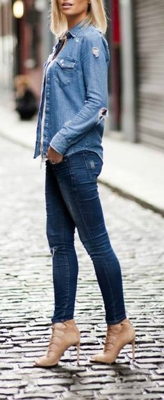 Denim on denim + nud
