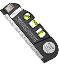 iCooker Laser Level [FREE Batteries Included] with 8 Ft Measuring Tape Ruler - Best Professional Craftsman Self Leveling Laser leveler For Multipurpose [Black]